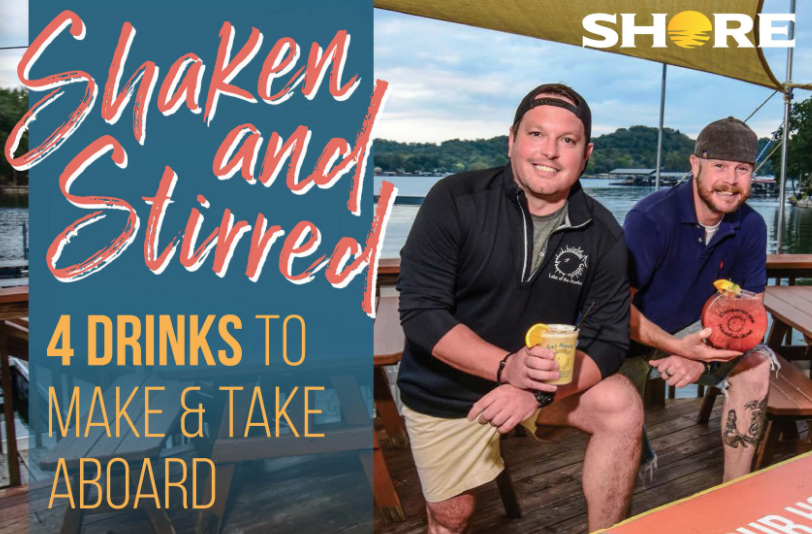 Shaken + Stirred: 4 Drinks To Make And Take Aboard