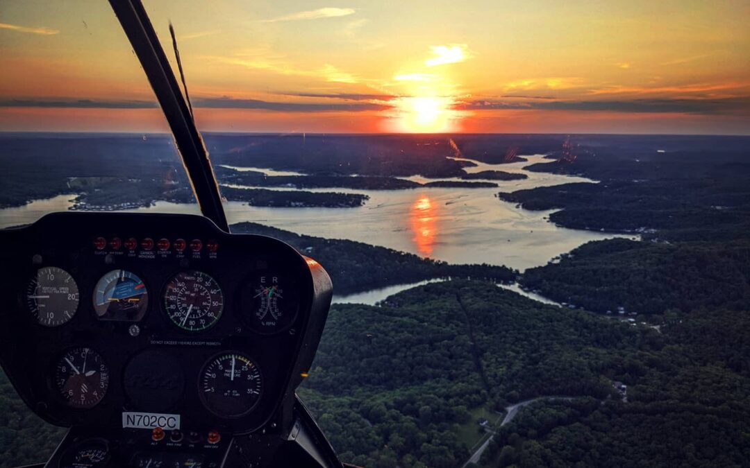 An Aerial Tour Of The Lake By LO Helicopter
